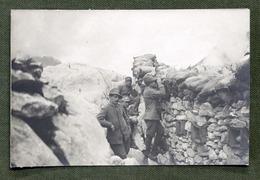 Militaria Fotografie - Fotocartolina D'epoca - WWI - Trincea Alpini - Fotos