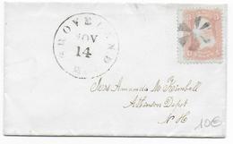 USA - 1861 - YT 19 Sur LETTRE De GROVELAND => ATHINSON DEPOT - 1847-99 Unionsausgaben