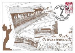 2772 -bureau De LA POSTE UNIVERSITÉ à Orléans, 1er Jour De Nouveau Nom -TB - Marcophilie (Lettres)
