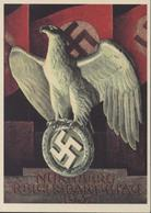 Nuremberg Nurnberg Reichsparteitag 1937 Aigle Croix Gammée Nazi Drapeau Cachet Corbeau Panz Armee Oberkommando 1 - Allemagne