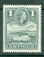 Antigua: 1953/62   QE II - Pictorial     SG121    1c   Slate-grey    MH - 1858-1960 Colonie Britannique