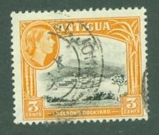 Antigua: 1963/65   QE II - Pictorial     SG152    3c   [Wmk: Block Crown CA]   Used - Antigua & Barbuda (...-1981)