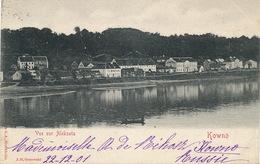 Kowno Kaunas Vue Sur Aleksota Edit J.H. Ossowski  1902 To Pellevoisin Indre - Lituanie