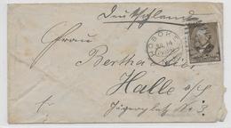 USA - 1885 - YT 62 Sur LETTRE De HOBOKEN => HALLE (ALLEMAGNE) - 1847-99 General Issues