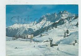 Val-d'Illiez (Suisse, Valais) :  Vue Aérienne Générale Au Niveau Du Retaurant De Les Crosets En Hiver 1970 (animé) GF. - VS Valais