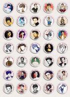Louis Tomlinson Music Fan ART BADGE BUTTON PIN SET (1inch/25mm Diameter) 35 X - Music