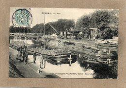 CPA -EPINAL (88) - Le Port - Aspect Des Péniches Pour Charrier Des Pierres Où Des Troncs D'arbres En 1907 - Paul Testart - Epinal