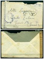 V7384 POSTA MILITARE Posta Da Campo Lettera In Franchigia Da Feldpost 18.9.44 A Fiume, Fascetta E Timbro Di Censura, - 1900-44 Vittorio Emanuele III
