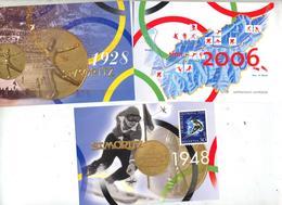 Lot 3 Carte Postale Jeu Olympique - Entiers Postaux