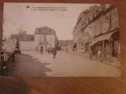 CPA 2 - Carte Postale Ancienne - Argenton Sur Creuse - Rue Gambetta Et Gare - France
