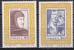 Repubblica Italiana, 1974 - Francesco Petrarca- Nr.1262/1263 MNH** - 1971-80: Ungebraucht