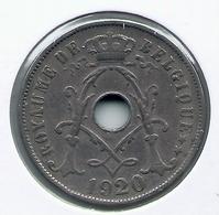 ALBERT I * 25 Cent 1920 Frans * Nr 5166 - 05. 25 Centimes
