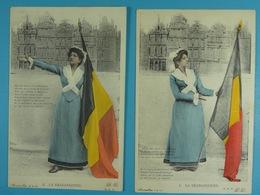 5 Cartes Postales Illustrées De La Brabançonne - Patriotic