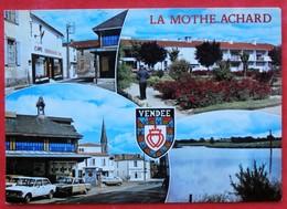 Cpsm Cpm 85 LA MOTHE ACHARD Multivues Blason Cafe Voitures - La Mothe Achard