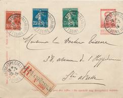 623/28 - Emploi Des TP Semeuses Par Des Belges - S/ Entier Belge Recommandé LE HAVRE Spécial 1915 Vers STE ADRESSE - WW I