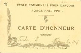 """CP De ANVERS / ANTWERPEN """" Le Steen """" Verso école Communale Pour Garçons FORGE-PHILIPPE - Momignies"""