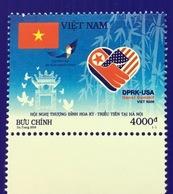 Vietnam Viet Nam MNH Perf Stamp Issued 26th Feb 2019: USA - DPRK Summit In Hanoi / Bamboo / Architecture / Flag / Peace - Vietnam