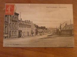 CPA 2 - Carte Postale Ancienne - Beauval - Rue Du Bourg - Beauval