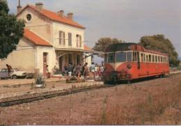 2B  Autorail Renault En Gare De ILE ROUSSE - Estaciones Con Trenes