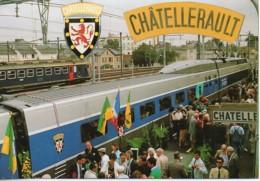 86 Baptème De La Rame N°359 Du TGV Atlantique Aux Armes De La Ville De CHATELLERAULT - Estaciones Con Trenes
