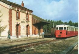 41 Autorail De Dion En Gare De PRUNIERS - Estaciones Con Trenes