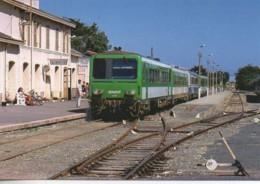 56 Le Train Régional En Gare De QUIBERON - Stations With Trains