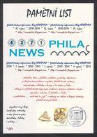 Rep. Ceca / Foglio Commemorativo (PaL 2011/03) Praha 1: Blog Di Informazioni Filateliche NEWSPHILA (2010-2011) - Filatelia & Monete