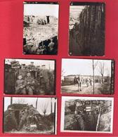 Flandres  -  Lot De Petites Photos  - Abimées Au Dos - War 1914-18