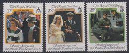 South Georgia 1986 Royal Wedding Of Prince Andrew 3v  ** Mnh (41961) - Zuid-Georgia