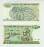 Zimbabwe 5 Dollars 1994 Pick 2d UNC - Zimbabwe