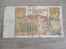 BILLET 100 DINARDS BANQUE CENTRALE ALGERIE - Algérie