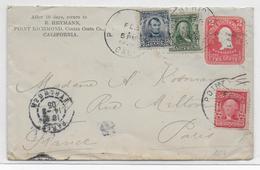 USA - 1905 - ENVELOPPE ENTIER Avec COMPLEMENT De POINT RICHMOND (CALIFORNIA) => PARIS - Covers & Documents