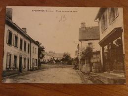 CPA 2 - Carte Postale Ancienne - Eygurande - Place Du Champ De Foire - Eygurande