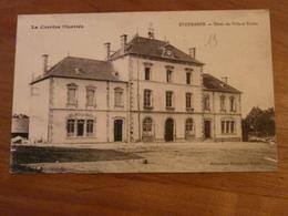 CPA 2 - Carte Postale Ancienne - Eygurande - Hôtel De Ville Et écoles - Eygurande