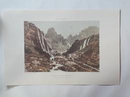 Haute Savoie. Fond De La Combe Et Le Mont Ruant. Vallée De Sixt. Reproduction Lithographie - Lithographies