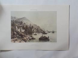 Haute Savoie. Meillerie Sur Le Lac De Genève. Reproduction Lithographie - Lithographies
