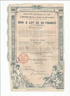 Actions Lot De 5 Actions 1889 Et Autres Voir Scans - Shareholdings