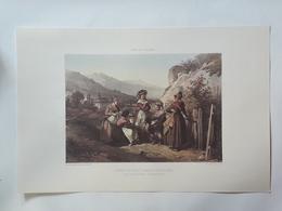 Haute Savoie. Costumes Du Bourg Saint Maurice Et Des Environs De Thonon. Reproduction Lithographie - Lithographies
