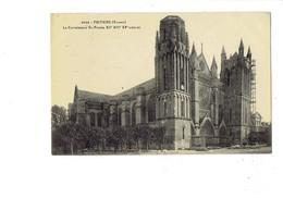 Cpa - 86 - Poitiers - La Cathédrale St Pierre - Travaux échafaudage - 3550 Vassellier - 1912 - Poitiers