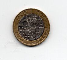Great Britain 2007 TWO POUNDS Commemorating TRECENTENARY 1707-2007 In GOOD CONDITION   Ref EP15. - 1971-… : Monete Decimali