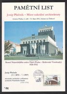 Tchéquie / Feuille Commémorative (PaL 2011/04)130 03 Praha 33: Josip Plecnik (1872-1957) Maître De L'architecture Sacrée - Tchéquie