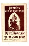 Chromo Publicitaire Foire Medievale Provins  Chateau - Otros