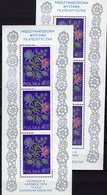 Stickerei 1974 Abart Poland Block 57+Bl.57 I ** 31€ Sozphilex Error Bloque Hb M/s Flower Blocs S/s Sheets Bf Polska - Variétés & Curiosités