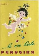 """2837 """" ....LE ORE LIETE PERUGINA - 14 ILLUSTRAZIONI DI DONALD BRUN -1954 """" PIEGHEVOLE  ORIGINALE - Altre Collezioni"""