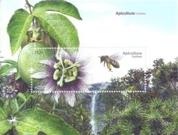 Portugal Madeira 2013 Apiculture Bees Honeycomb Souvenir Sheet MNH - Factories & Industries