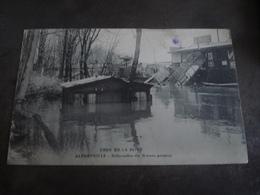 ALFORTVILLE  INONDATIONS  1910 DEBARCADERE DES BATEAUX PARISIENS - Alfortville