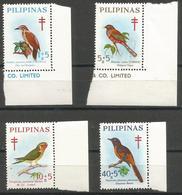 Philippines - 1969 Birds (TB Campaign) MNH **     Sc B36-9 - Philippines