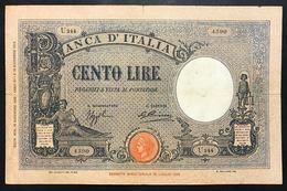 100 Lire Azzurrino 16 12 1932 Pressata Taglietti   LOTTO 2408 - [ 1] …-1946 : Regno