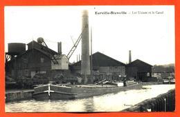 """CPA 52 Eurville Bienville """" Les Usines Et La Canal """" Péniche Beau Plan - Autres Communes"""