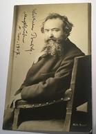 WILHELM BUSCH (1832-1908) Dichter & Zeichner Autograph Foto (artist Poet Painter Literature Literatur Comics Autographe - Autogramme & Autographen